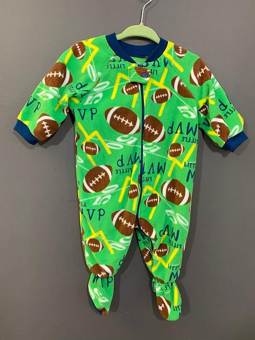 Size 3-6m CHILDREN'S PLACE Little MVP Football Fleece Footie PJ