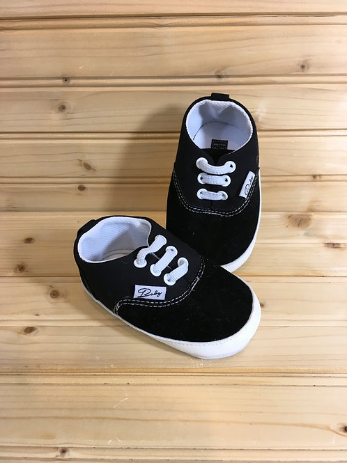 Size 3 Baby, Black Shoes,