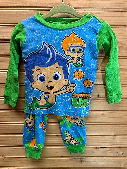 Size 18m Bubble Guppies 2pc Pajama