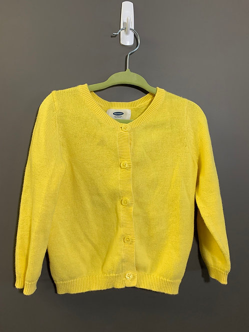 Size 2T OLD NAVY Yellow Cardigan