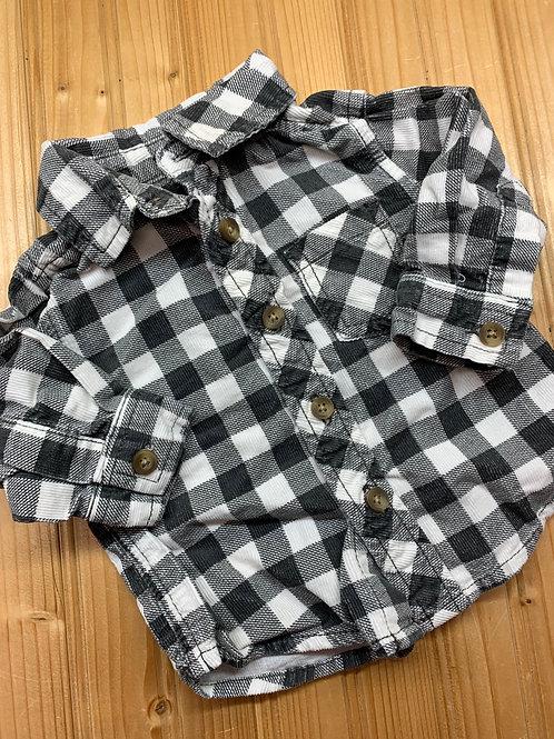 Size 3-6m CARTER'S Grey Plaid Flannel