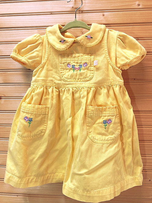 Size 2T McDONALDS Yellow Cotton 2pc Dress , Used