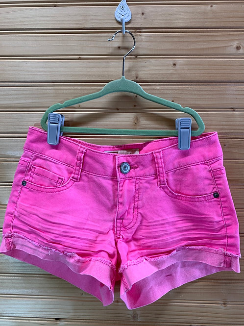 Size 1 LEI Pink Stretchy Shorts, Used