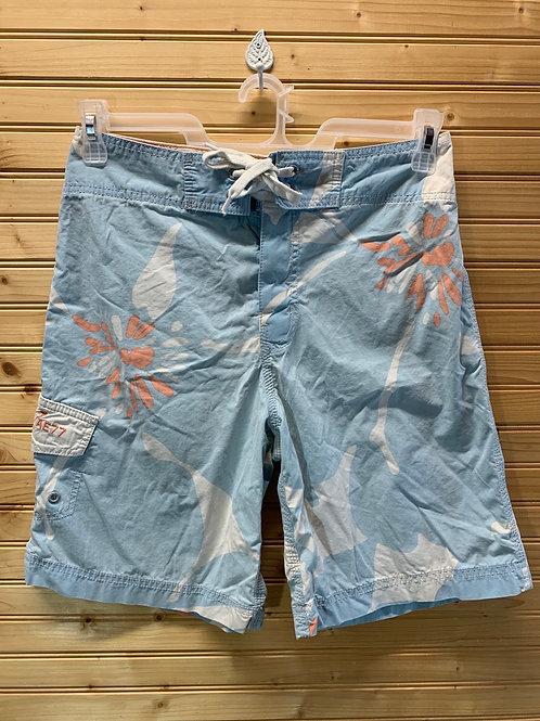 Size 28 Blue Board Shorts