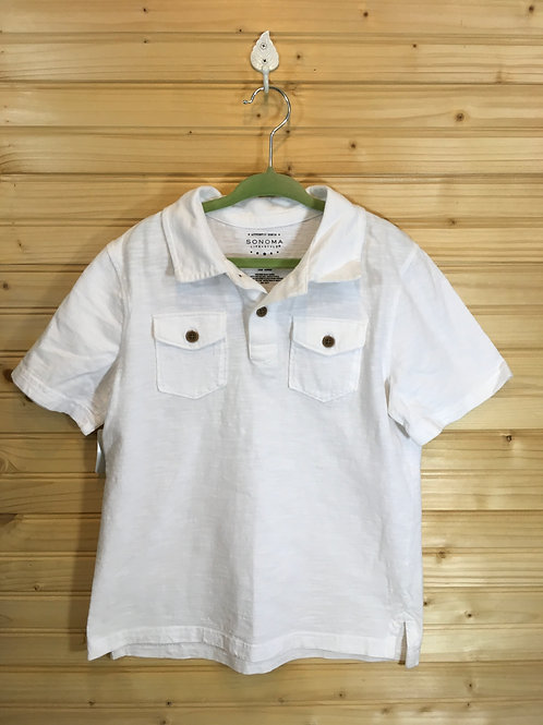 Size 7 Kids SONOMA White Short Sleeve Shirt