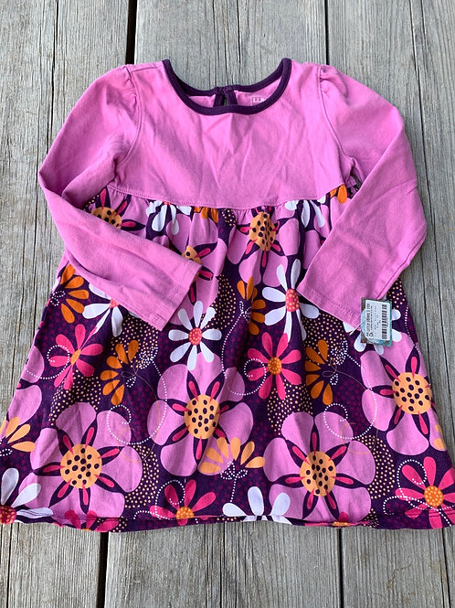 Size 4T LL BEAN Purple Floral Dress