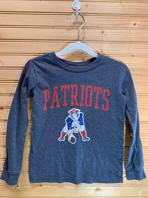 Size 5 Kids New England Patriots Longsleeve Shirt, Used