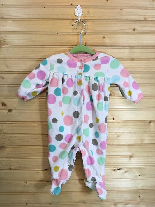 Size 3m CARTER'S Pastel Circles Fleece Pajama