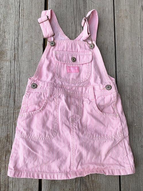 Size 4T OSHKOSH Pink Engineer Overall Skirt