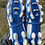 Size 3.5 Adult ADIDAS Blue and White Soccer Cleats
