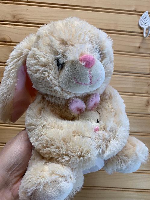 Brown Bunny and Baby Stuffed Animal, Used