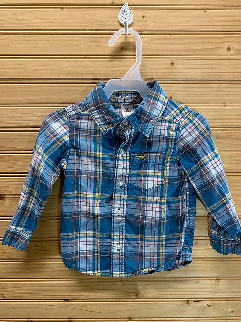 Size 18m Blue Plaid Shirt