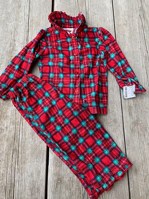 Size 18m FADED GLORY Red and Green Plaid PJ