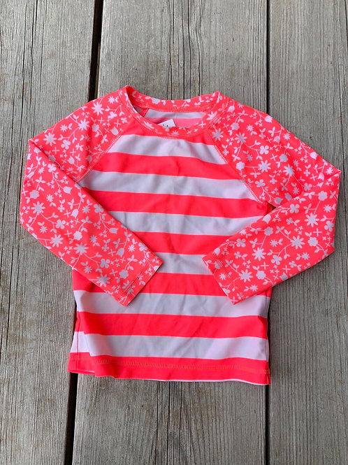 Size 3T CAT & JACK Coral Pink Rash Guard