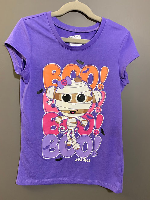 Size 10 Kids JUSTICE Boo Mummy Monkey Halloween Tee
