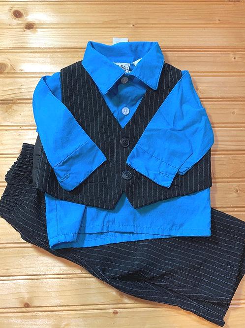 Size 6-9m HAPPY FELLA 3pc Suit, Used
