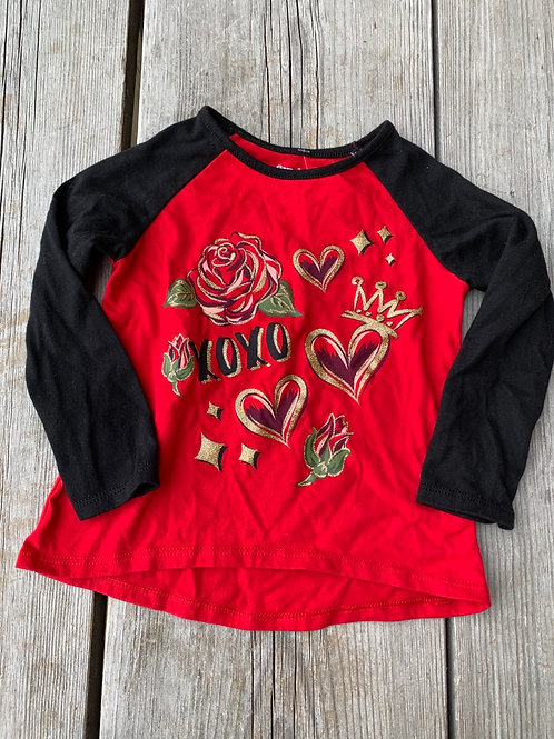 Size 2T Black and Red and Gold Shirt