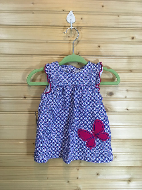 Size 3-6m CHILD OF MINE Blue and Pink Butterfly 2pc Outfit