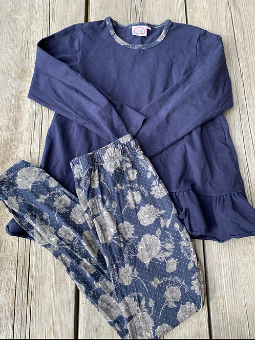 Size 10 LILLI LOVEBIRD Blue Floral Outfit