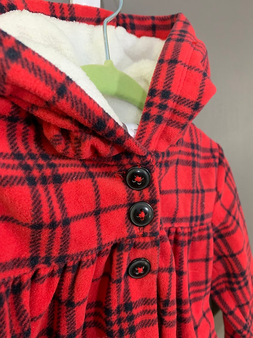 Size 6m CARTER'S Red Plaid Fleece Hoodie