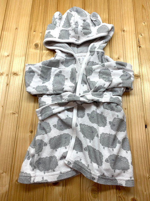 Size 0-9m CARTER'S Grey Sheep Bathrobe