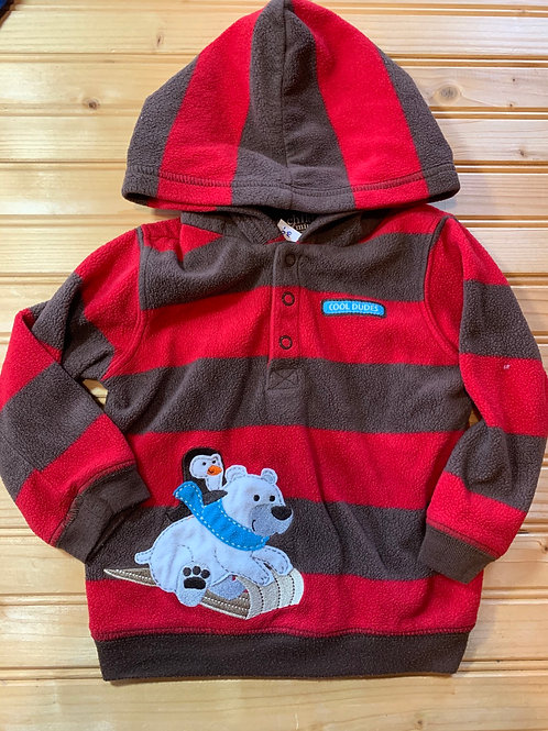 Size 18m CARTER'S Striped Fleece Hoodie