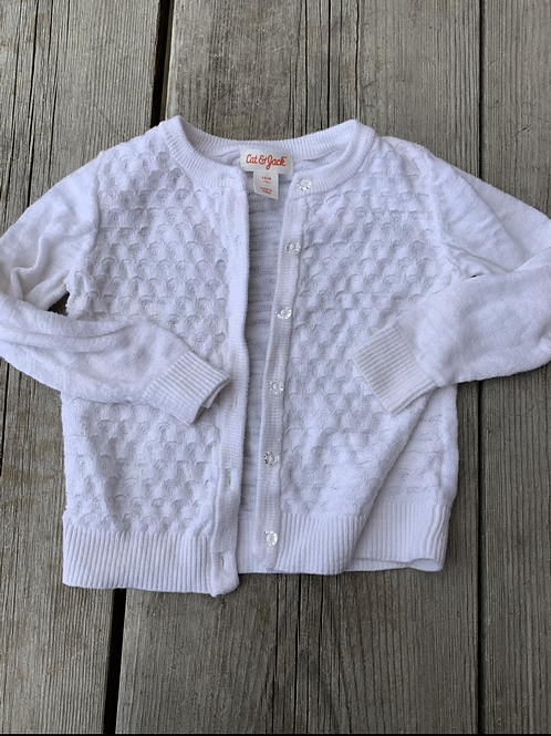 Size 18m White Cardigan Sweater