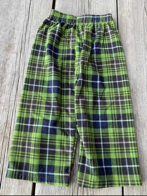 Size 4T CARTER'S Plaid Fleece PJ Pants