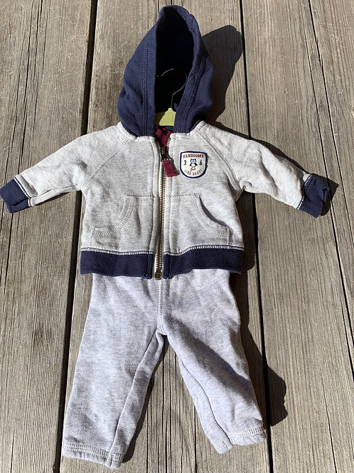 Size NB CARTER'S 3pc Handsome Like Dad Outfit, Used