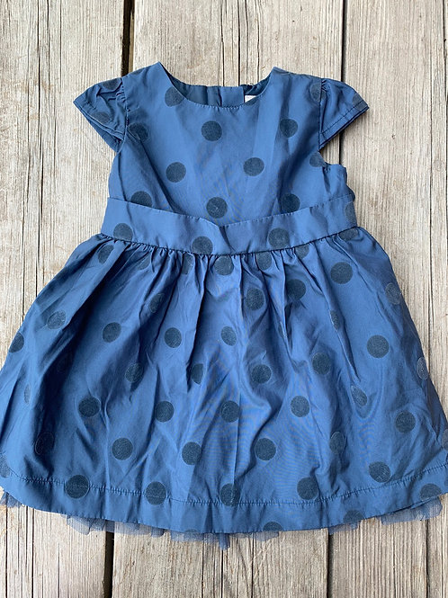 Size 18-24m JOE FRESH Blue Layered Party Dress, Used