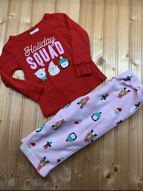 Size 18m CARTER'S 2pc Holiday Squad PJ