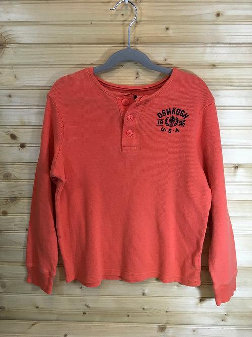 Size 10 Kids OSHKOSH Orange Henley Jersey