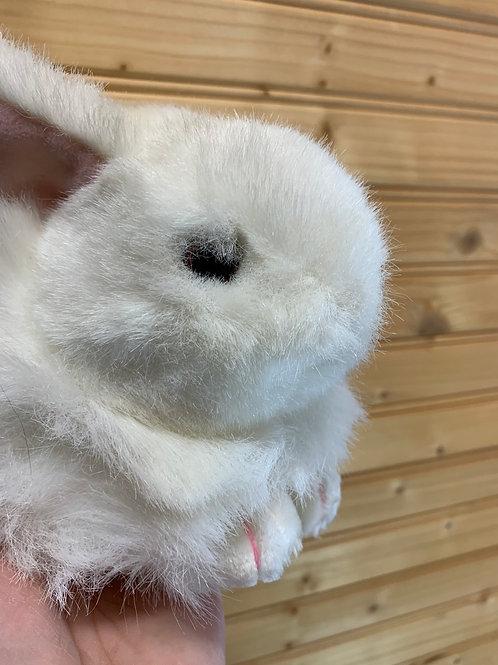TY White Bunny Stuffed Animal, Used