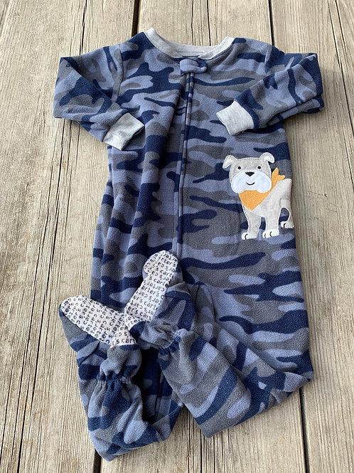 Size 24m Camo Dog Fleece PJ