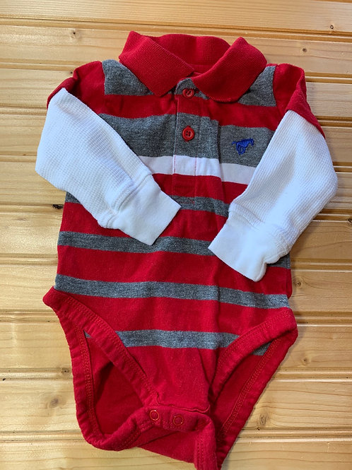 Size 0-3m Red Long-sleeve Shirt