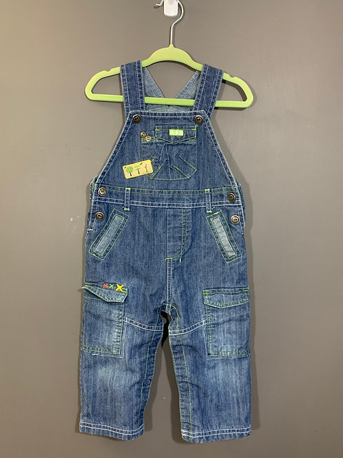 Size 12m TROIS MOUTONS Overalls with Trees, Used