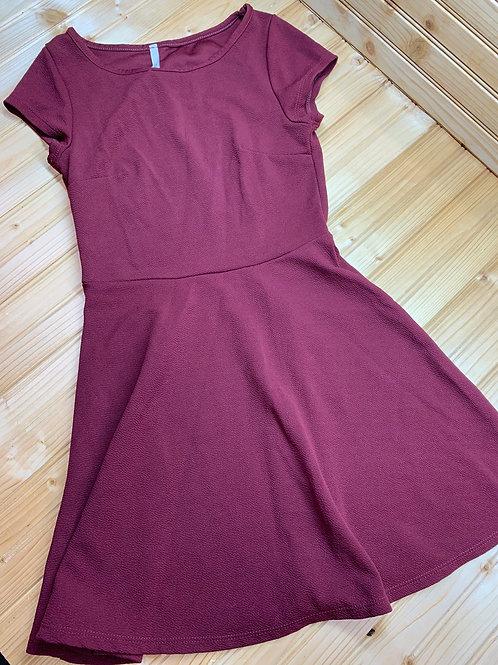 Size S (10/12?) Burgundy Texture Dress