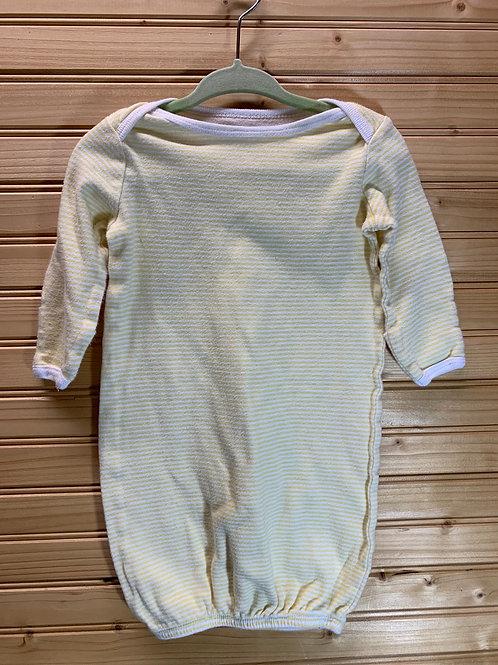 Size 0-3m Yellow Striped Open PJ