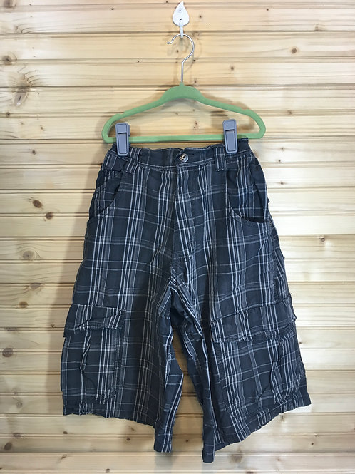 Size 16R Kids WRANGLER Plaid Board Shorts