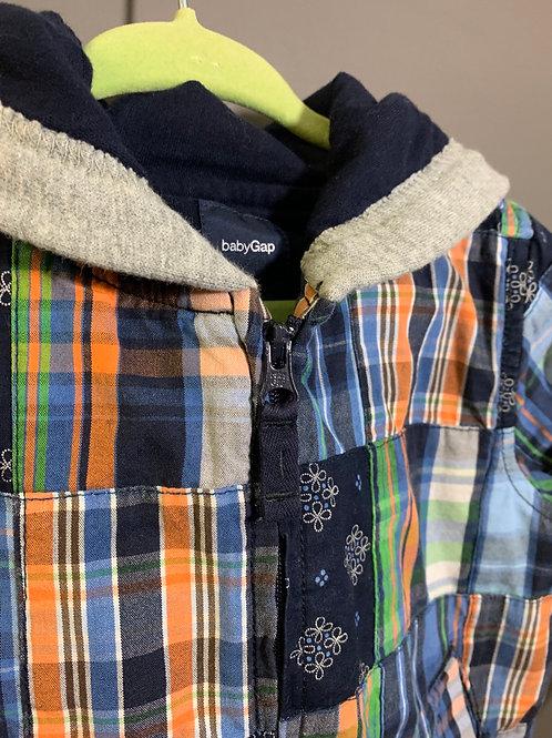 Size 12-18m BABY GAP Patchwork Jacket Hoodie
