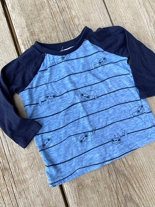 Size 9m OKIEDOKIE Sloth Shirt