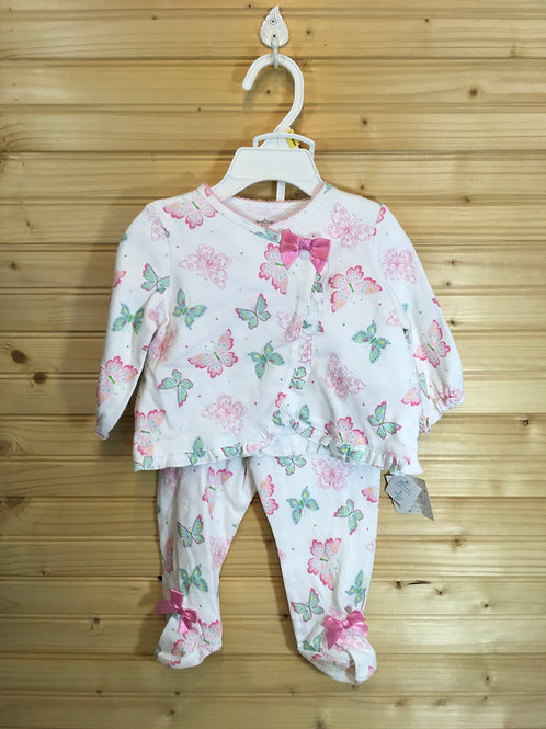 Size 3-6m WELCOME TO THE WORLD New 2pc Butterfly Outfit