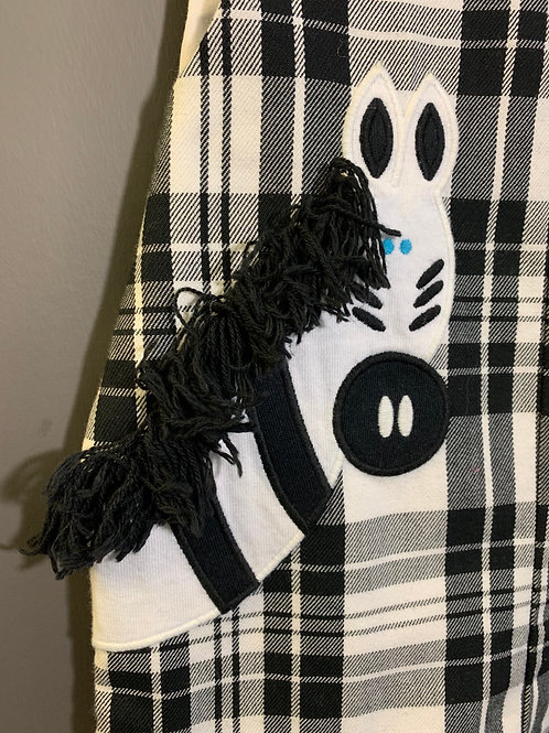 Size 18m KELLY'S KIDS - Zebra Black and White Plaid Outfit