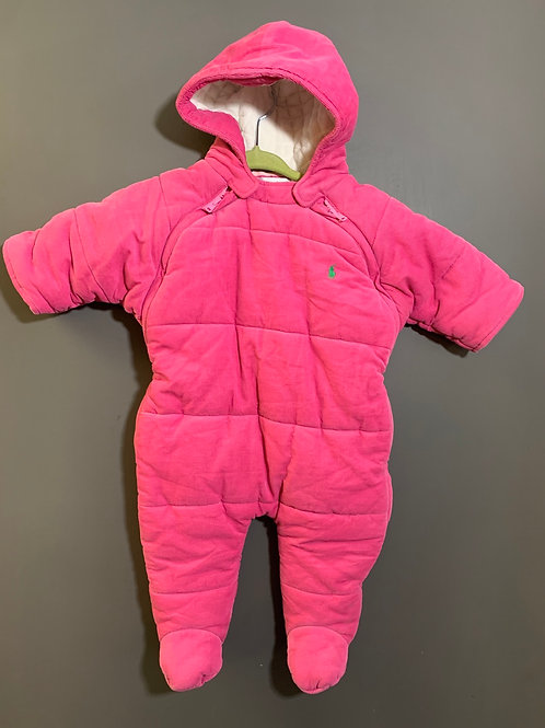 Size 6m RALPH LAUREN Pink Corduroy Bunting
