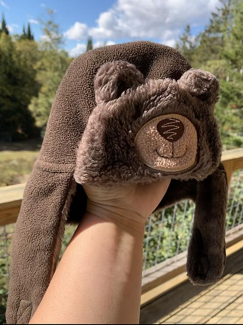 Infant Bear Fleece Flap Hat