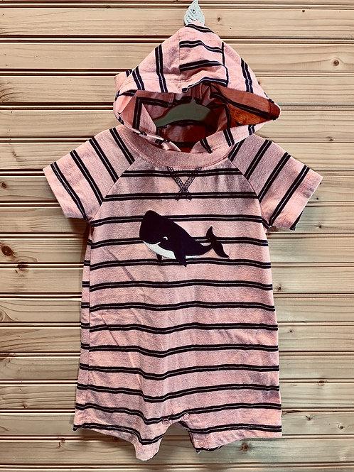 Size 18m Pink Stripe Whale Jumper