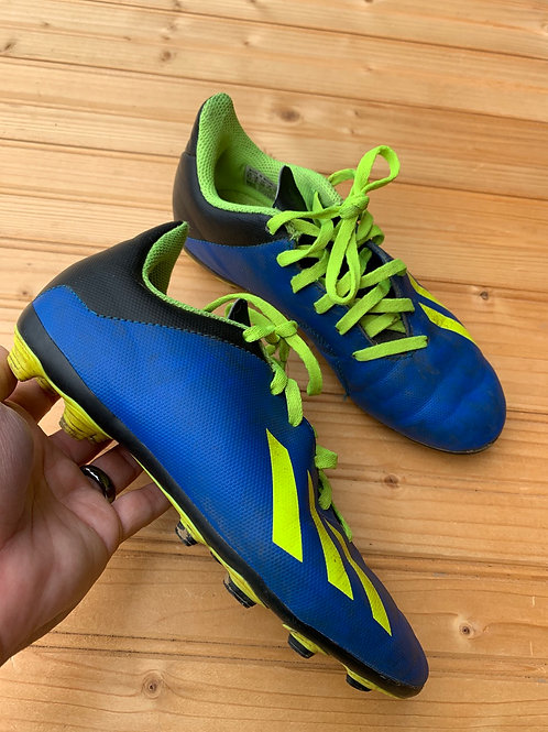Size 2.5 Youth ADIDAS Blue and Green Soccer Cleats
