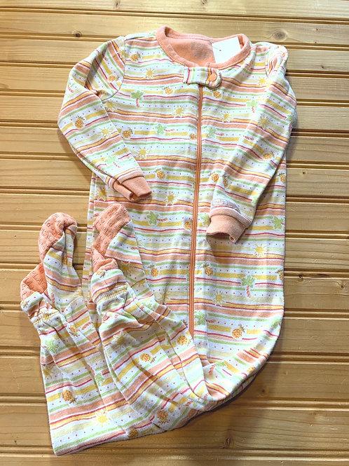 Size 18m Striped Peachy Cotton PJ