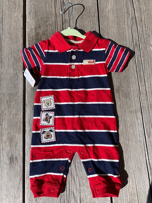 Size NB CARTER'S Red and Navy Polo Jumper, Used