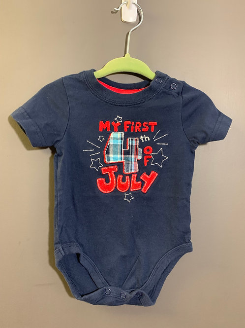Size 3m JUMPING BEANS First Forth of July Onesie